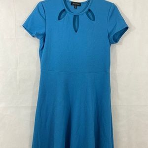 Slinky Cap Sleeve Dress Turquoise